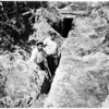 Buried in cave-in hut (9553 East Palm Avenue, Bellflower), 1952