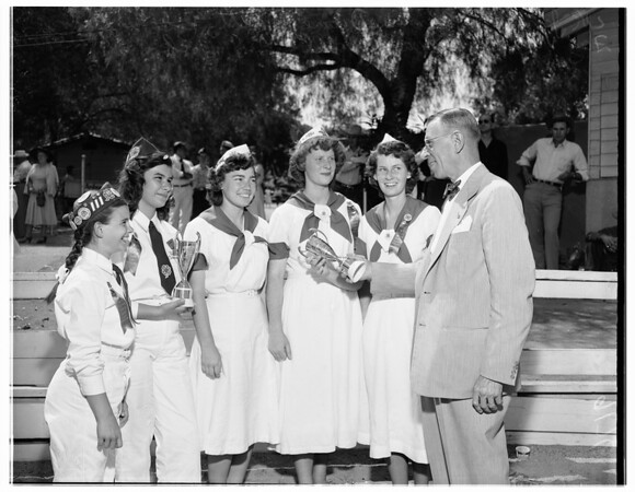 4-H Club field day at Kellogg Ranch, 1951