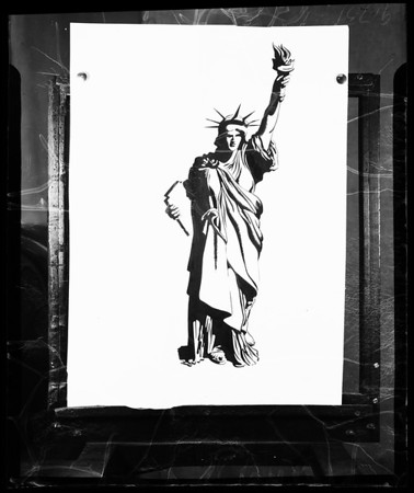Drawing (1951) of the Statue of Liberty