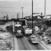 Washington Blvd. underpass at Santa Fe rail tracks, Los Angeles, 1953