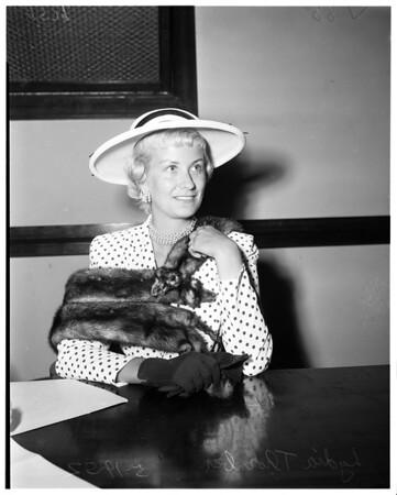 Thornber divorce, 1952.