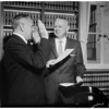 Justice Fox sworn in to the Appelate court, 1958