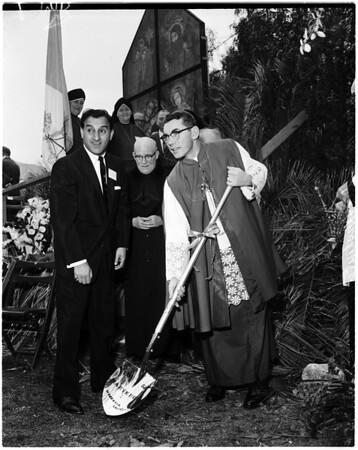 Groundbreaking for new Maryknoll Hospital in Monrovia, 1958