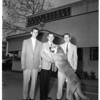 "Carrier boys meet ""Old Yeller"" at Disnty [sic] Studios, 1958"