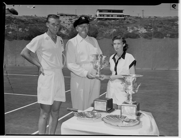 Future tennis champ, 1951
