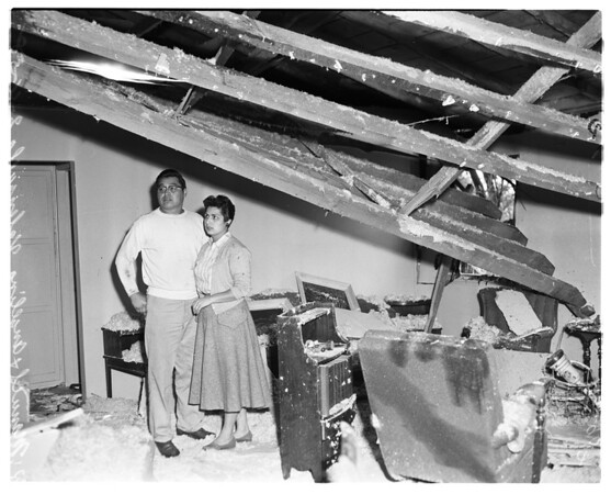 Explosion in home, 1958