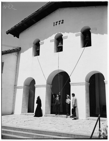 Old mission bells ring (fiesta de la floras), 1951