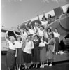 Flying girl scouts, 1951