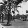 A view of the gazebo in Library Park, ca. 1930
