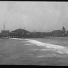 Pier at Venice Beach showing the amusement park and beach, ca.1900-1920
