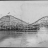 Rollercoaster at the Venice Beach amusement park along the oceanfront, Venice, California, 1911