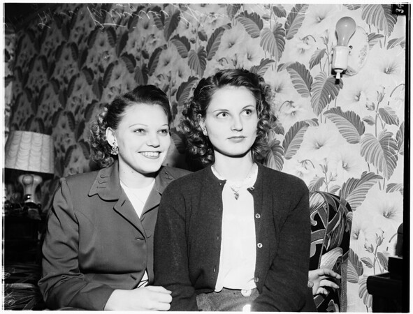 Sisters ask divorces, 1951