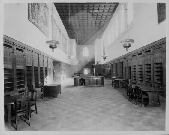 The main circulation room in the Pasadena Public Library, ca. 1928
