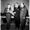 Biscailuz receiving special achievement award, 1958