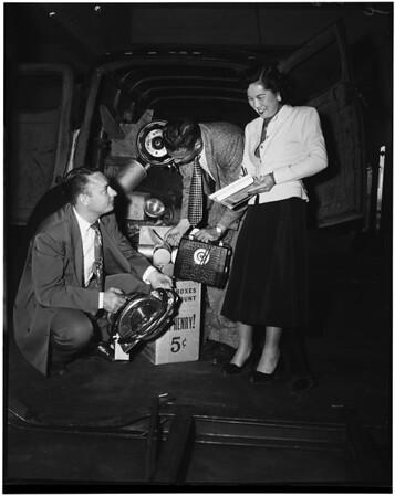Auto theft ring broken up (San Pedro), 1952