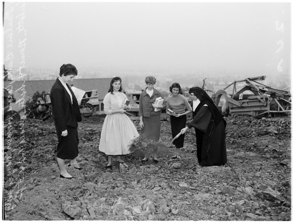 Immaculate Heart College (new construction site), 1958