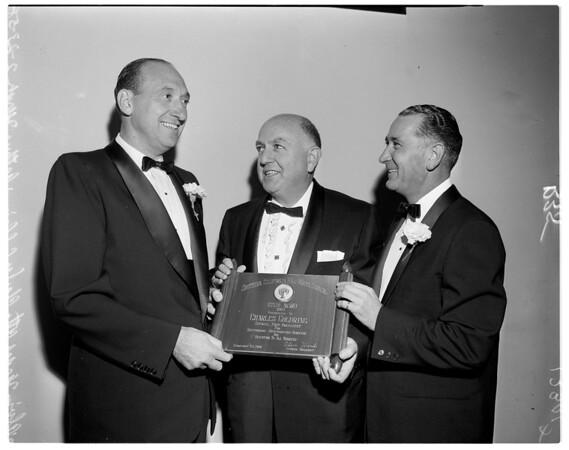 B'nai B'rith award, 1958