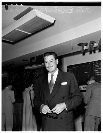 Errol Flynn arrival, 1951