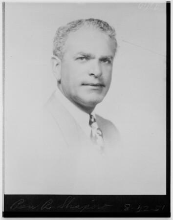 Ben B. Shapiro (copy), 1951