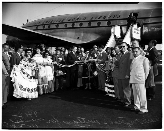Opening of new Direct Airway between Los Angeles and Central and South America, 1951