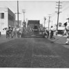 Rubber road installation along Figueroa St., Los Angeles, 1952
