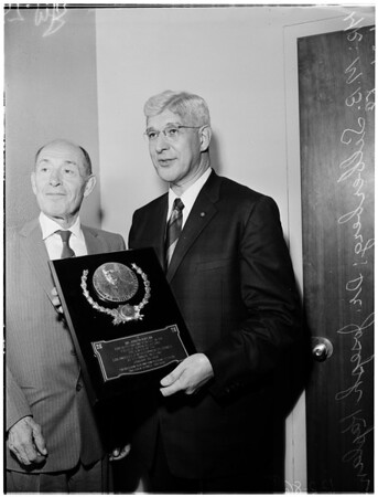 Jewish Community Council Award, 1958