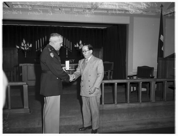 Hero awards (Fort MacArthur Chapel), 1952