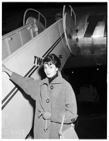 Airport departure, 1951