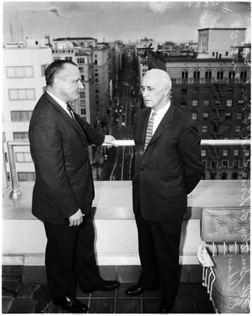 Senator Knowland at Statler Hotel, 1958