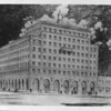 A drawing of the First Trust and Savings building, Pasadena, 1928