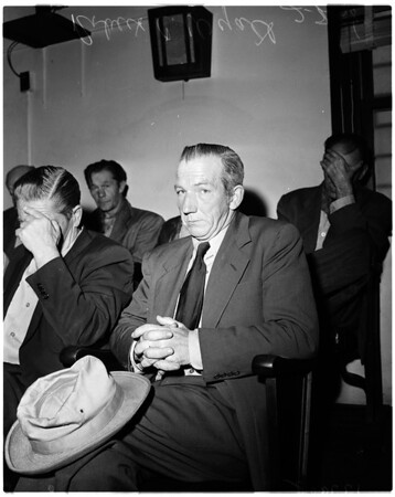 Witness in murder trial, 1958