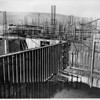 Hyperion sewage plant framework of buildings under construction, Los Angeles, ca.1948-1950