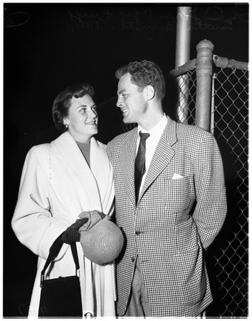 Agar and wife in Los Angeles, 1951