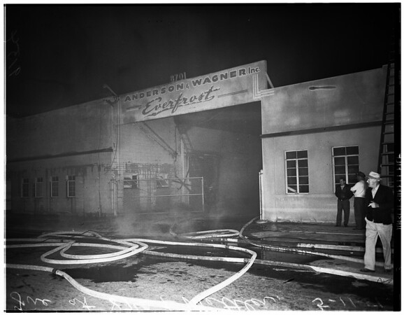 Fire at 87th and Mettler, 1951