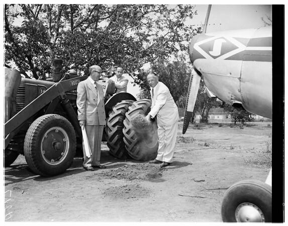 Ground breaking San Fernando Valley Airport, 1951