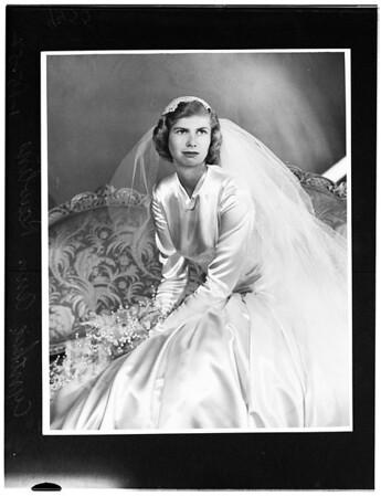 Cynthia Ann Rawlins (Wedding picture -- copy), 1952