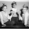Triplets birthday party, 1958