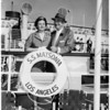 Sail on their honeymoon to Honolulu on SS Matsonia, 1958