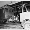 Auto vs. Pacific Electric mail car (Long Beach and Newton), 1951