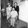 Wheelchair to polio patients, 1951