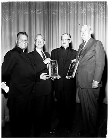 Loyola  Labor and Management Awards presented, 1958