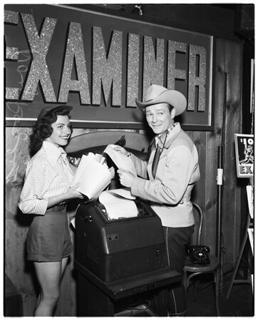 Roy Rogers (with unidentified girl), 1952