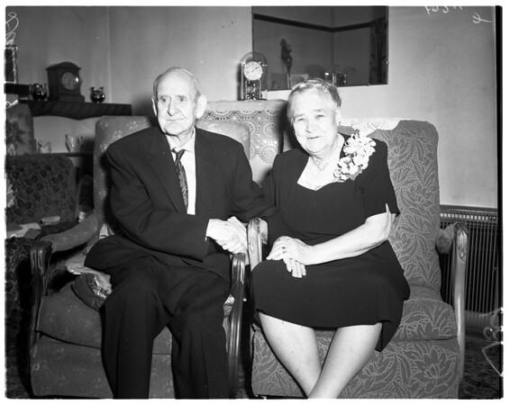 Sixty-ninth wedding anniversary, 1958