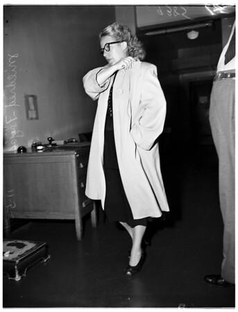 Arrested for harboring a deserter, 1951