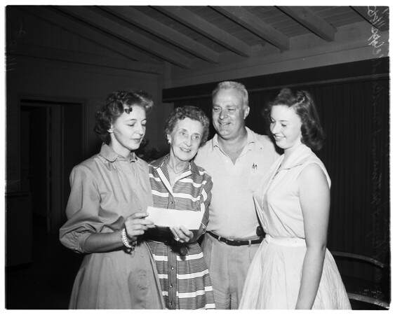 $15,000 gift to Palm Springs youth center, 1955