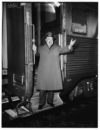McManus arrival (Union Station), 1951