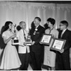 Los Angeles Tuberculosis and Health Association Award to high school students for journalistic accomplishments, 1958