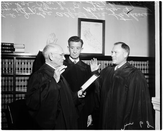 Judges sworn in, 1958.