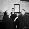 Judges sworn in, 1958.