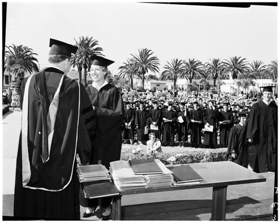 Pepperdine commencement, 1952
